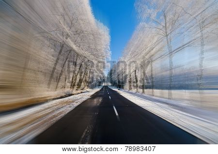 Driving Fast At Winter Time