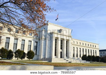 Washington DC - Federal Reserve building in Autumn