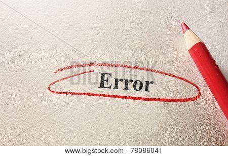Red Circle Error