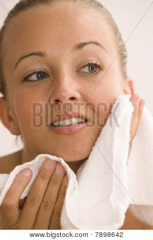 Woman Drying Skin