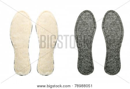 Two pairs of insoles for shoes