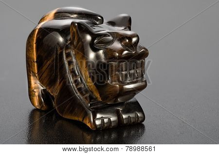 Tiger-eye Tiger Statuette