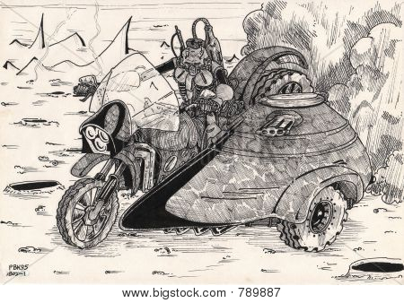 sketches 1995  02 18 biker