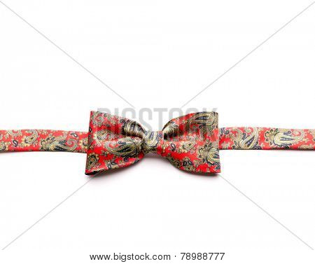 Red bow-tie with flowers