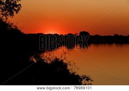 African Sunset On Zambezi
