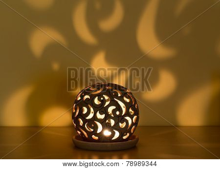 Christmas Lantern With Candle