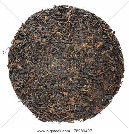 Old Aged Raw Sheng Puerh Tea Cake Isolated
