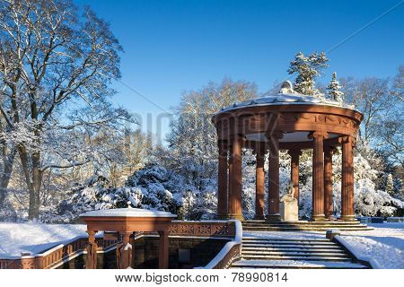 Well Of The Goddess Hygeia In The Winter