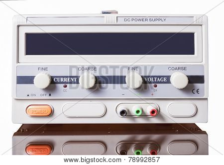 Dc Power Supply Isolated Over Pure White Background