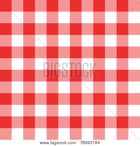 Bright two toned red and white checkered seamless background pattern
