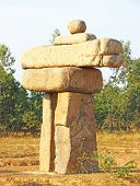 picture of stonehenge  - stonehenge type rock formation in an ashram holy place - JPG