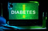picture of diabetes mellitus  - Notebook with words   diabetes - JPG