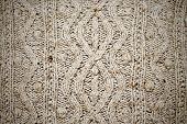 picture of irish  - gray patterned knitted fabric in Irish style - JPG