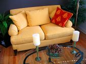 Yellow Love Seat poster