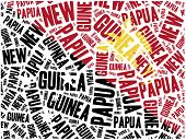 stock photo of papua new guinea  - National flag of Papua new Guinea - JPG
