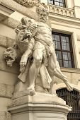 picture of hercules  - Statue of Hercules outside the Hofburg Palace in Vienna Austria showing how he fulfills the legendary Labors of Hercules - JPG
