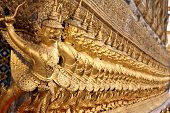 pic of glorify  - The ancient arts on the wall in temple of Thailand - JPG
