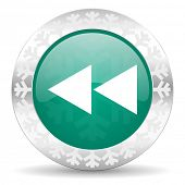 picture of christmas song  - rewind green icon - JPG