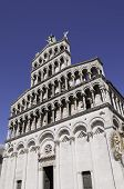 picture of cupola  - Front side of the cupola San Michele in Lucca Tuscany - JPG