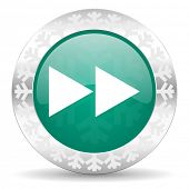 image of christmas song  - rewind green icon - JPG
