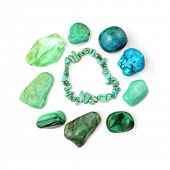 picture of calcite  - Green And Turquoise Gemstones - JPG