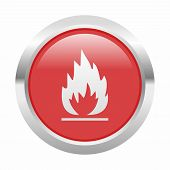 picture of flames  - Flames icon as a symbol of flames - JPG
