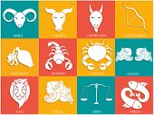 foto of libra  - Set of Twelve Horoscope or Zodiac sign - JPG