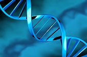 foto of double helix  - DNA double helix on a blue background - JPG