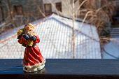 pic of daddy  - Russian Christmas character Daddy Frost Ded Moroz toy on the winter background - JPG