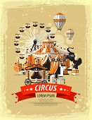 picture of tent  - Circus tent  with space for text - JPG
