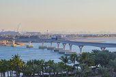 stock photo of dubai  - monorail from Dubai Marina in Atlantis with train in Dubai - JPG