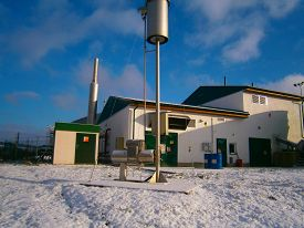 picture of biogas  - Detail biogas plant for processing biomass  - JPG