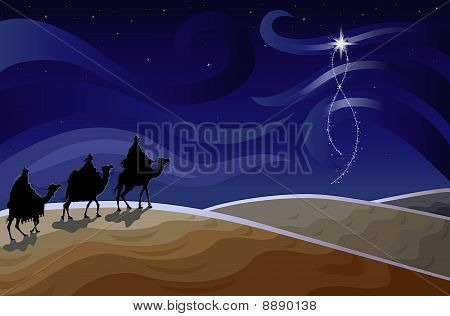 Three Wise Men And The Star