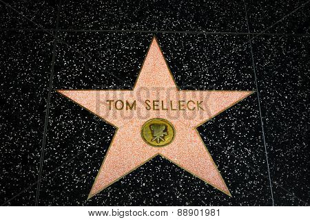 Tom Selleck Star On The Hollywood Walk Of Fame