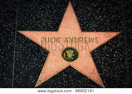 Julie Andrews Star On The Hollywood Walk Of Fame