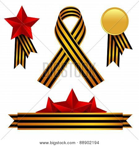 Vector Set Of Victory Day