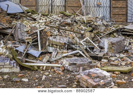 Ruins Of The Old Brick Building
