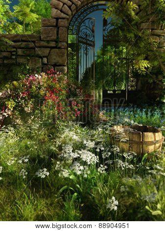 Garden Idyll, 3D Cg