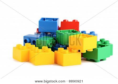 Some Plastick Colored Bricks