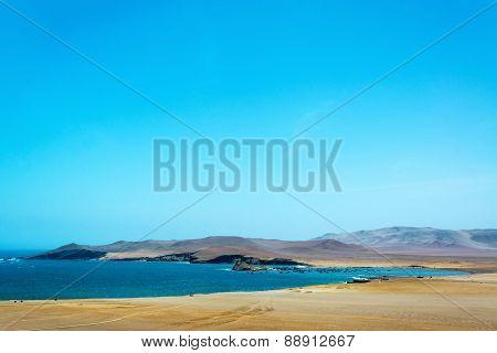Desert Landscape And Harbor