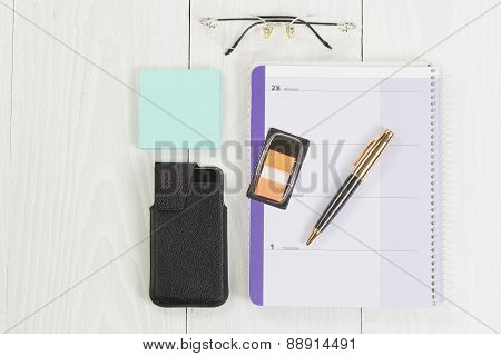 Desktop With Basic Business Office Objects