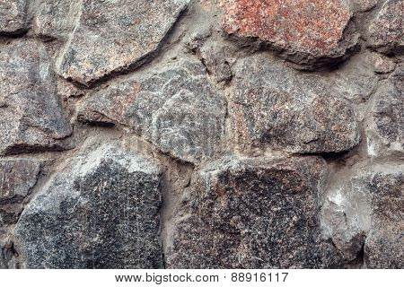 Wall. Natural Granite Stone Texture Background. Rough And Rusty