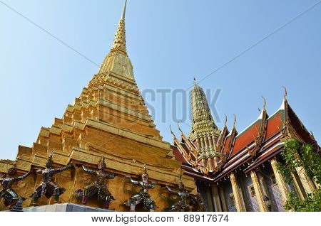 Golden Pagoda In Grand Palace, Bangkok