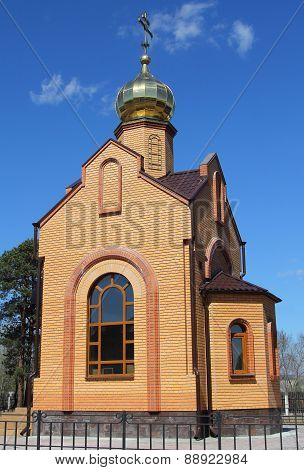 Chapel of Sacred Great martyr Ekaterina in territory of Minusinsk hospital