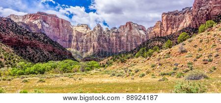 Zion Canyon National Park in Utah