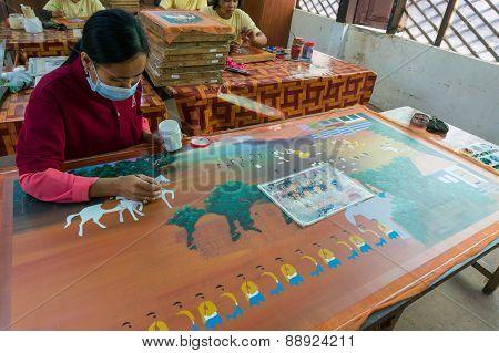 Cambodia.Artisans d'Angkor an artisan group
