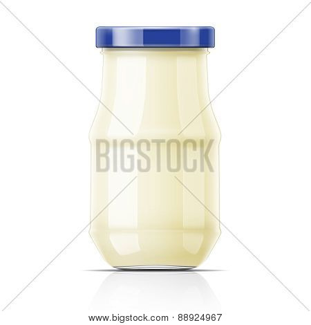 Nayonnaise in glass jar.