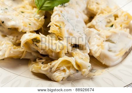 Italian Tortellini In Cream Sauce