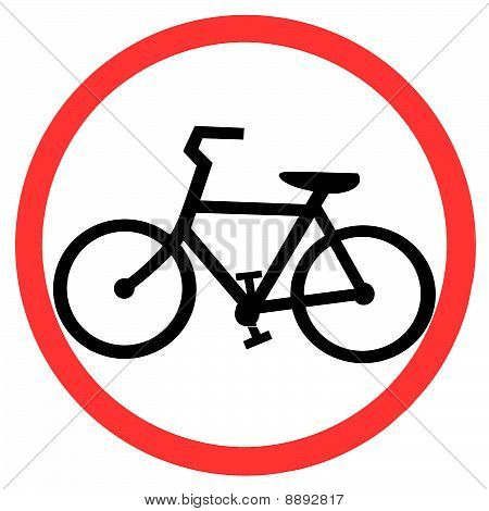 Symbol of Bicycle Lane Sign