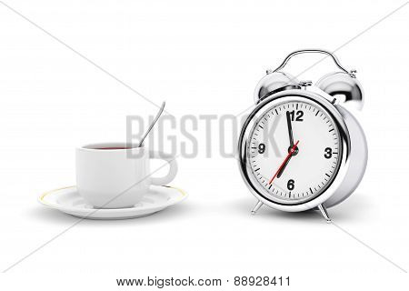 Rare Alarm Clock With Coffee Cup